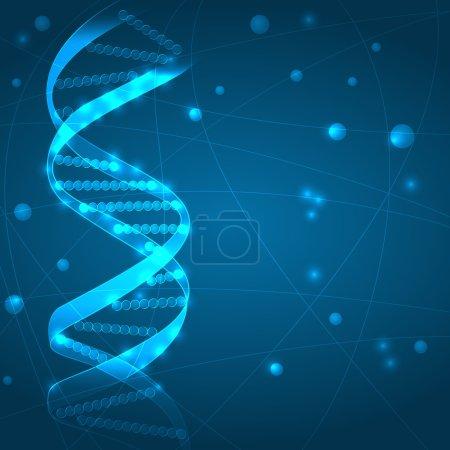 Illustration for DNA background - Royalty Free Image