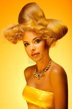 Gold beauty portrait
