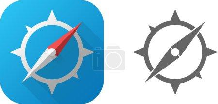 WebVector Compass Icon Symbol Set