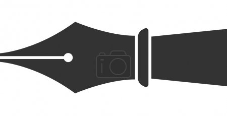 Illustration for Vector Ink Pen Tip Icon Symbol - Royalty Free Image