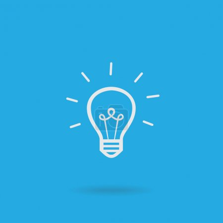 Illustration for Light bulb vector icon - Royalty Free Image