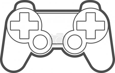 Vector Game Console Gamepad Icon Symbol