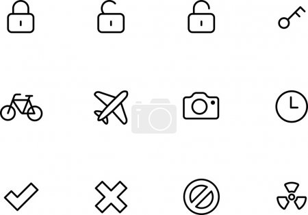 Rounded Thin Icon Set