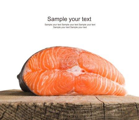 Photo pour Steak de saumon - image libre de droit
