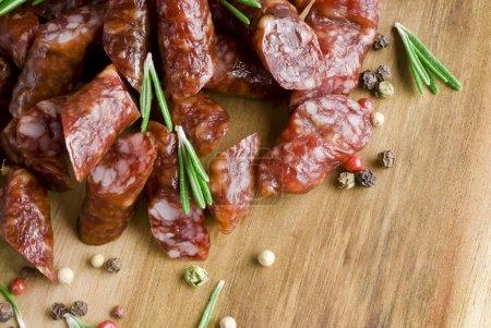 Smoked sausage with rosemary...