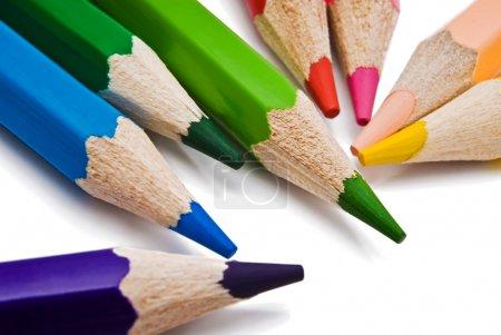 Photo pour Crayon de couleur isolé sur blanc - image libre de droit