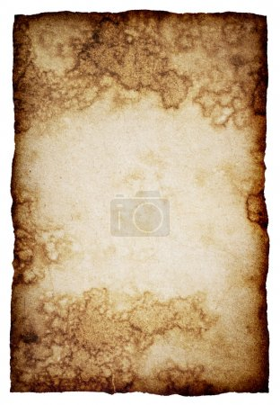Photo for Old paper sheet on white background - Royalty Free Image