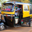 Постер, плакат: GOA INDIA FEB 11 2014: Indian auto rickshaw Auto rickshaws