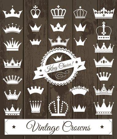 Crowns vintage set.