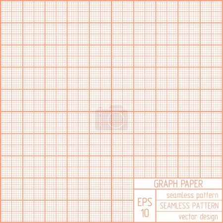 Graph paper seamless pattern.