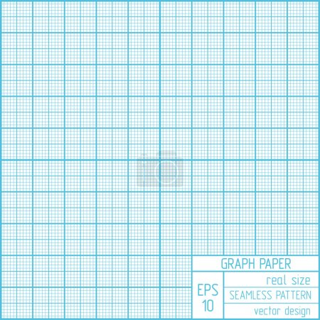Illustration for Graph paper seamless pattern. Real scale. - Royalty Free Image