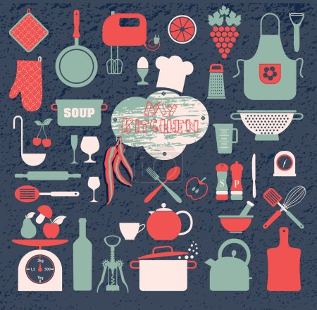 Illustration for Kitchen icon set - Royalty Free Image