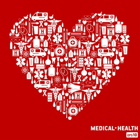 Illustration for Medical icon. - Royalty Free Image