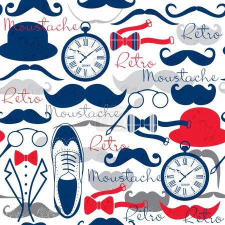 Ilustración de Retro vintage de patrones sin fisuras. - Imagen libre de derechos