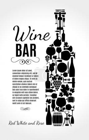 Illustration pour Carte des vins . - image libre de droit