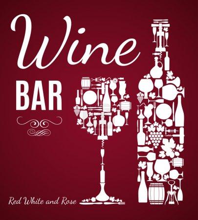 Illustration pour Contexte du vin. - image libre de droit