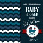 Baby shower invitation. Boy...