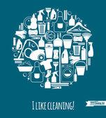 čištění nastavit pozadí