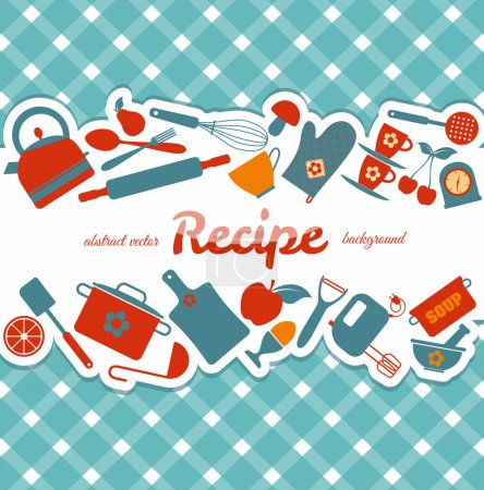 Illustration for Kitchen abstract background. - Royalty Free Image