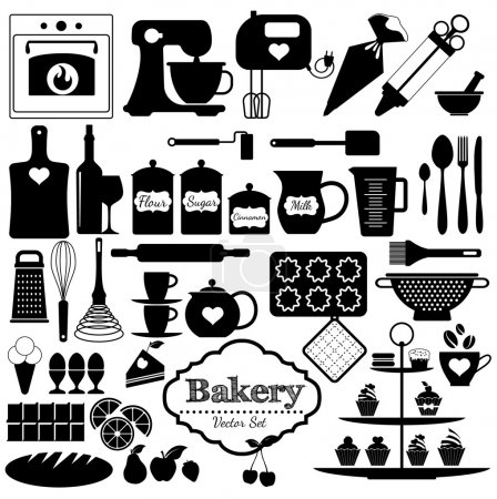 Bakery icons set. Vector elements for your design....