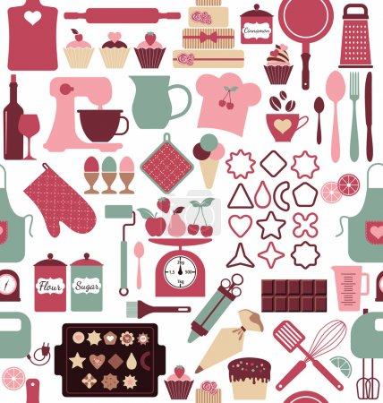 Illustration pour Modèle sans couture boulangerie - image libre de droit