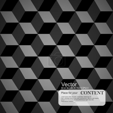 Geometric pattern background, seamless 3d cubes.