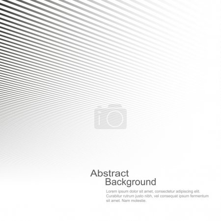 Illustration for Abstract background, vector template for your ideas, monochromatic lines texture - Royalty Free Image