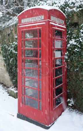 Telephone Box in Snow