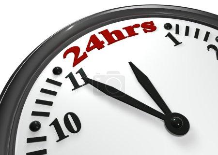 Photo pour Le spectacle de l'horloge la plus importante des 24 heures - image libre de droit