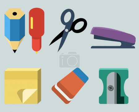 Vector set of stationery...