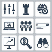 Vector isolated seo icons set
