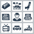 Vector news and journalism icons set...