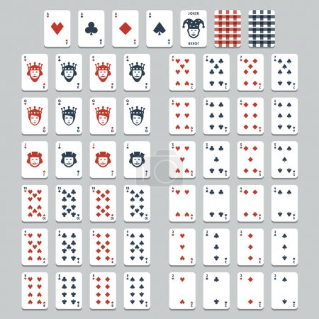 Illustration for Vector playing cards, flat style - Royalty Free Image