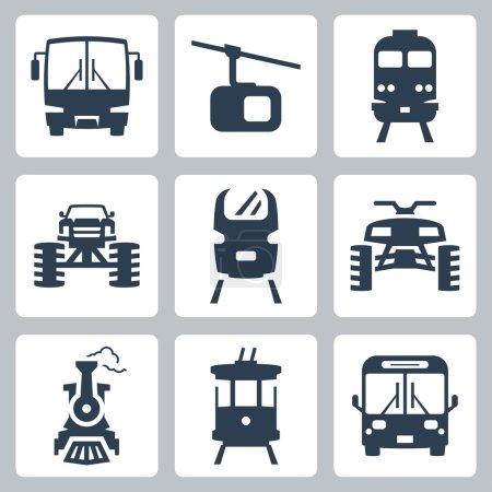 Illustration for Vector transportation icons set - Royalty Free Image