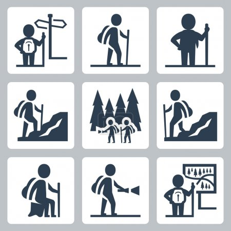Illustration for Traveller icons set - Royalty Free Image