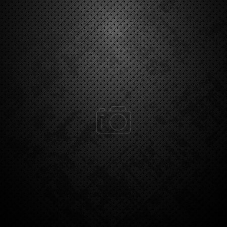 Illustration for Abstract dark metal background with dots - Royalty Free Image