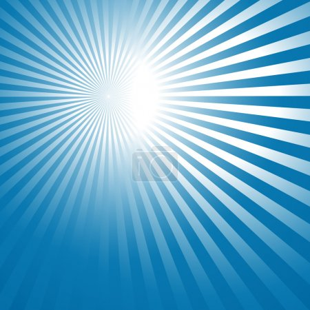 abstract blue background with sun rays