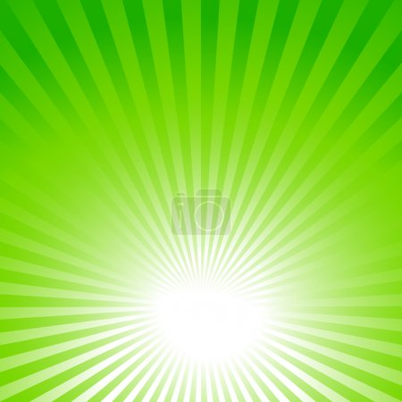 Illustration for Abstract green summer background with sun rays - Royalty Free Image