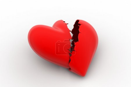 Photo for Broken heart sign, loss of love concept - Royalty Free Image