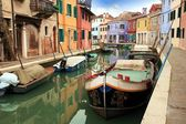 Canals and streets of Burano island