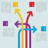 šipky způsoby infografika