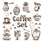 Retro coffee set vector illustration...