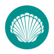 Scallop sea shell symbol vector illustration...
