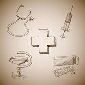 Sammlung von medizinischen Symbolen