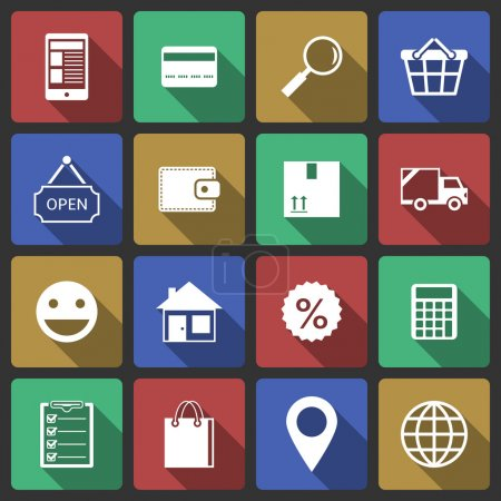 Set of internet shopping icons