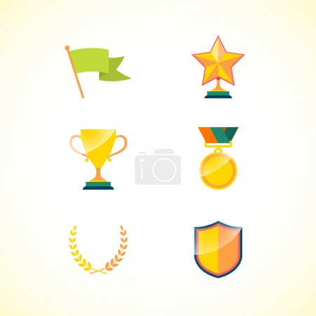 Set of achievement badges