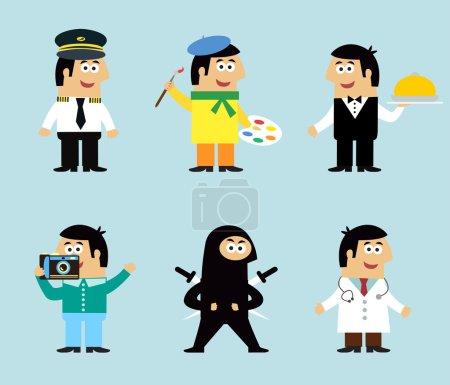 Professions icons set