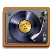 Vinyl record player print