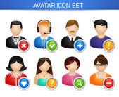 Social Avatar Icons Set