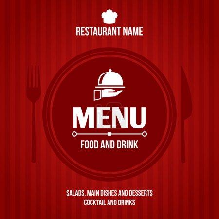 Illustration pour Cuisine et restaurant éléments d'infographie aliments et ustensiles icônes et graphiques illustration vectorielle - image libre de droit